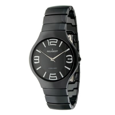Peugeot Swiss Women's Ceramic Dial Watch in Black