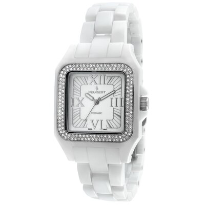 Peugeot Swiss Women's Swarovski Crystal Dial Watch