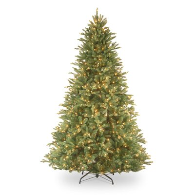 "National Tree Co. Tiffany Fir 7' 6"" Green Artificial Christmas Tree with 750 Pre-Lit Clear Lights with Stand"