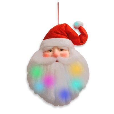 National Tree Co. Pre-Lit Cotton Santa Head