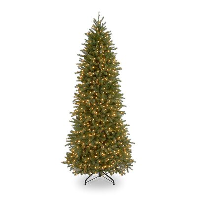 National Tree Co. Jersey Fraser Fir Pre-Lit 7.5' Pencil Slim Tree