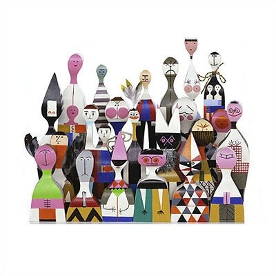 Vitra Vitra Design Museum  - Wooden Dolls no. 8 by Alexander Girard