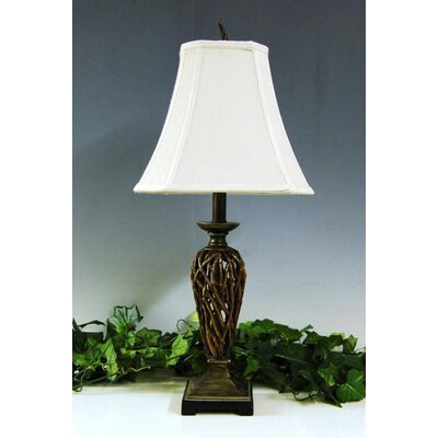 Lamp Factory Openwork Reed 1 Light Table Lamp