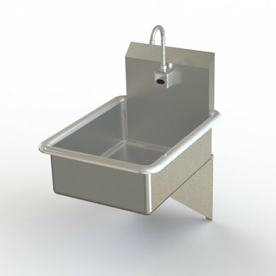 Stainless Wall Mount Sink : Aero Manufacturing NSF Stainless Steel Wall Mount Bathroom Sink