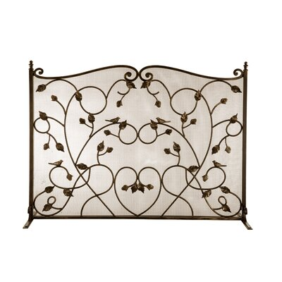 SPI Home Bird Cast Iron Fireplace Screen