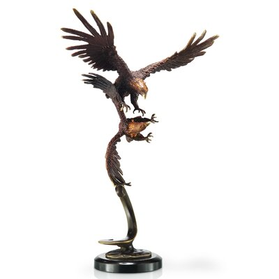 SPI Home Double Flying Eagles Statue