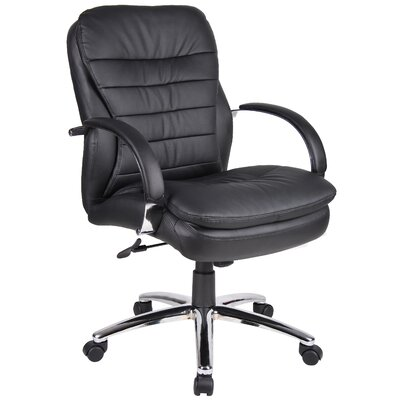 Boss Office Products Deluxe Mid-Back Managerial Chair