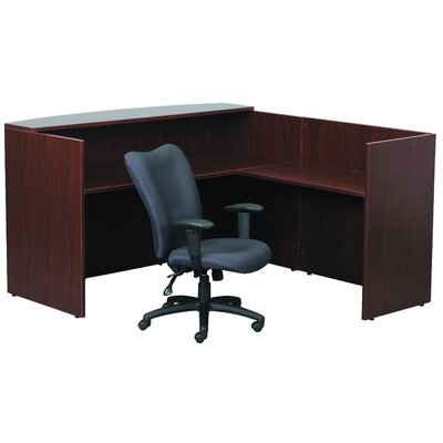 Boss Office Products Reception L-Shape Desk Office Suite