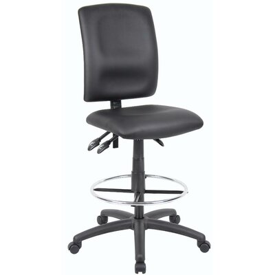Boss Office Products Height Adjustable Drafting Stool with Casters