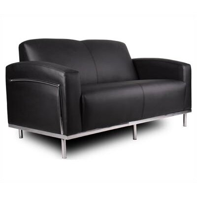 Boss Office Products Loveseat with Chrome Frame