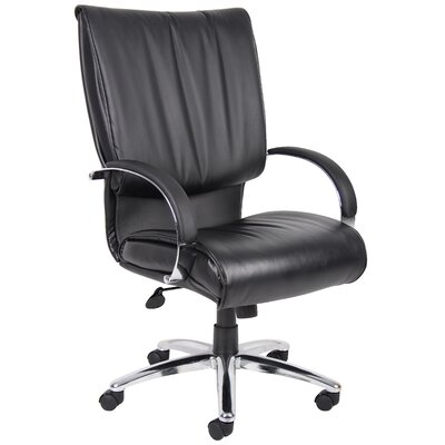 Boss Office Products High-Back Leather Plus Executive Chair