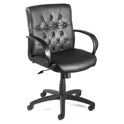 Boss Office Products Mid-Back Button Tufted Executive Chair