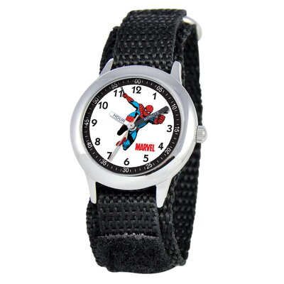 Marvel Kid's Spider-Man Time Teacher Watch in Black