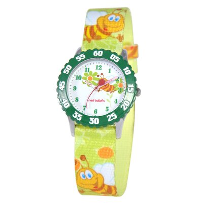 Kid's Buzzing Bees Time Teacher Watch in Green