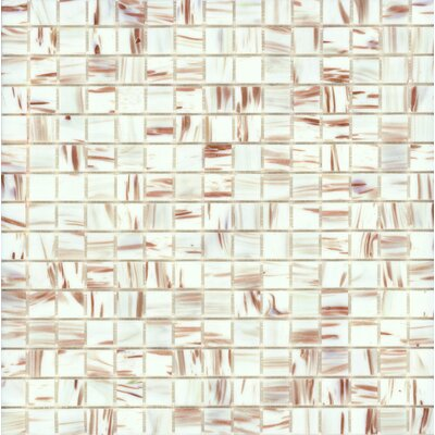 "Surfaces Elida Glass 13"" x 13"" Mosaic in  White Bronze"