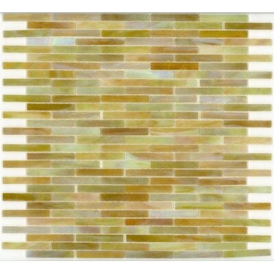 "Surfaces Elida Glass 14"" x 13"" Mosaic in Onyx Brick"
