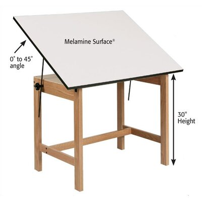 Alvin and Co. Titan Melamine Drafting Table