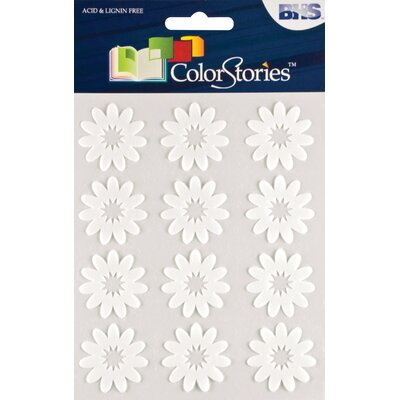 Alvin and Co. Colorstories Flocked Daisy Stickers (Set of 12)