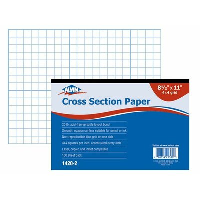 Alvin and Co. Cross Section Paper Grid Pad (Set of 100)
