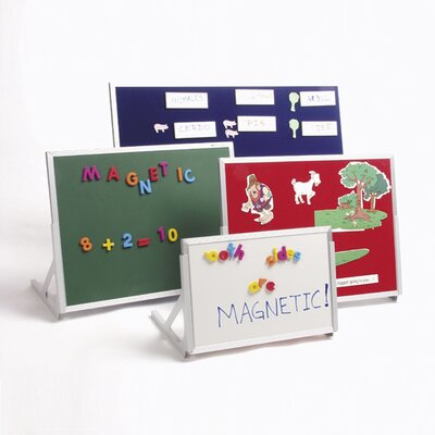 Best-Rite® Magnetic Feltboard/Magnetic Markerboard Language Easel