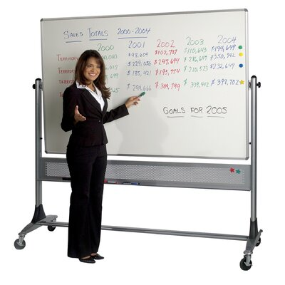 "Best-Rite® Platinum Reversible Dura-Rite Two Sided Markerboard 79"" x 72"" / With Cork"