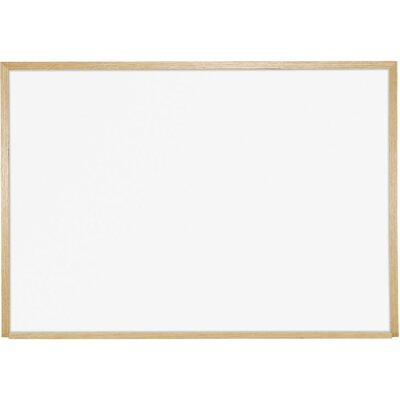 Best-Rite® 4' x 4' Porcelain Steel Markerboard with Solid Wood Trim