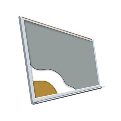 "Best-Rite® Projection Plus - Aluminum Trim 48"" x 120"""