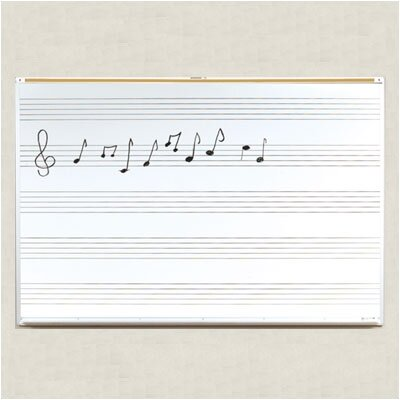 Best-Rite® Porcelain Lifetime Music Boards 4' x 6'