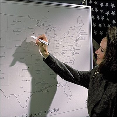 Best-Rite® Porcelain Lifetime Map Boards