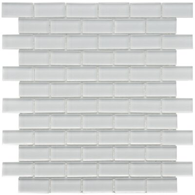 EliteTile Sierra 13&quot; x 11-3/4&quot; Glass Subway Mosaic in Ice White
