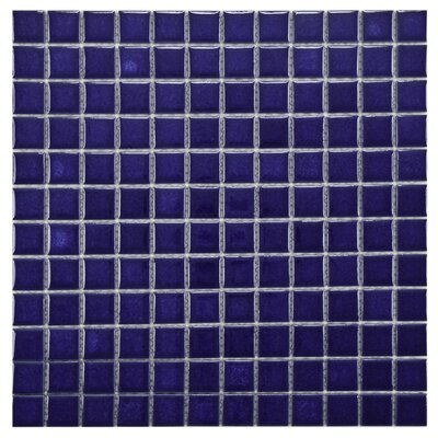 "EliteTile Pool 12"" x 12"" Porcelain Mosaic in Pacific"