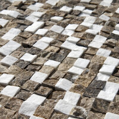 "EliteTile Grizelda Chiseled 12"" x 12"" Natural Stone Mosaic in sand"