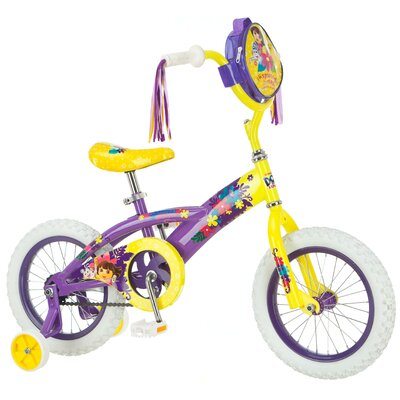 "Dora Girls 14"" Dora Bike with Training Wheels"