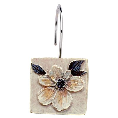 Carnation Home Fashions Magnolia Shower Curtain Hooks (Set of 12)