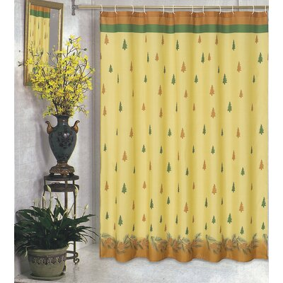 Carnation Home Fashions Winter's Break Polyester Fabric Holiday Shower Curtain