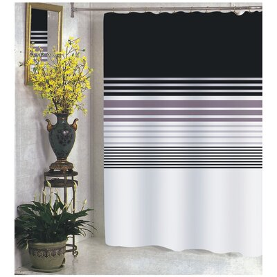 Carnation Home Fashions Christina Polyester Shower Curtain