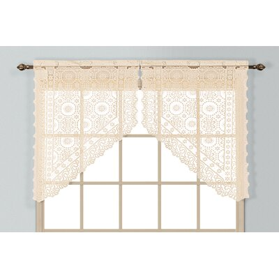 United Curtain Co. New Rochelle Rod Pocket Swag Curtain Valance