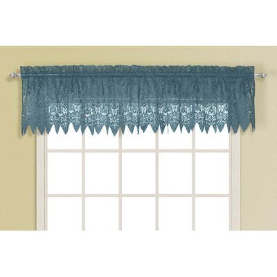 United Curtain Co. Valerie Rod Pocket Scalloped Curtain Valance