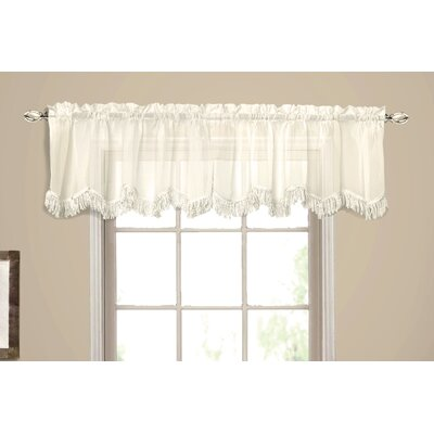 United Curtain Co. Yvonne Rod Pocket Scalloped Curtain Valance