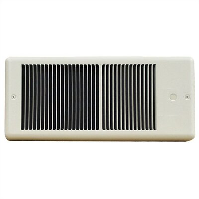 TPI Low Profile Fan Forced Wall Electric Space Heater with Wall Box
