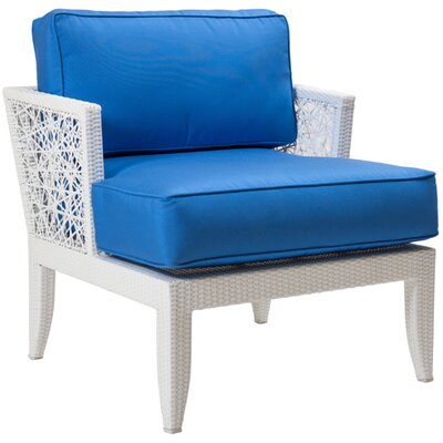 David Francis Furniture Mykonos Deep Seating Chair with Cushions