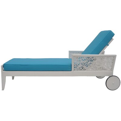 David Francis Furniture Mykonos Chaise Lounge with Cushions