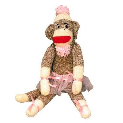 Ozark Mountain Kids &quot;Isabella Ballerina&quot; Sock Monkey