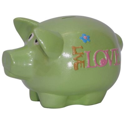 Metrotex Designs Girly Chic Double Sided Live, Love, Laugh Piggy Bank
