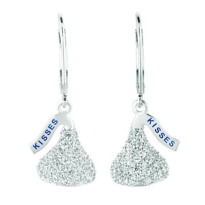 Hershey's Kiss Cubic Zirconia Lever Back Drop Earrings