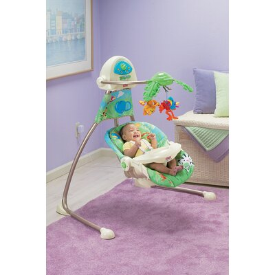 Fisher-Price Rainforest Open Top Cradle Swing
