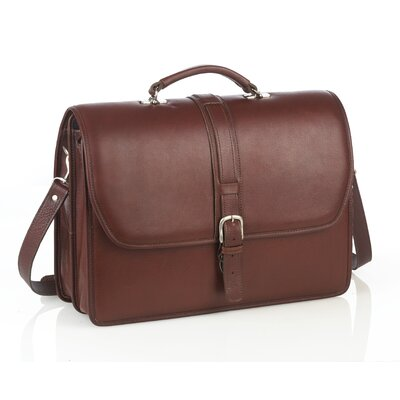 Aston Leather Briefcase with Removable Laptop Case