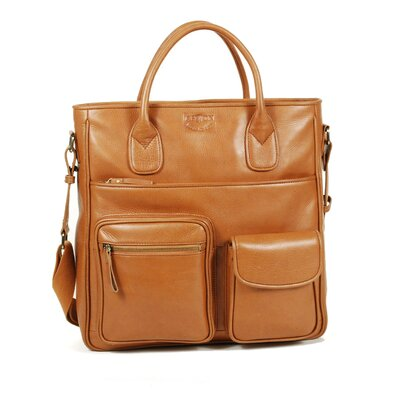 Aston Leather Tote Bag with Handle and Shoulder Strap