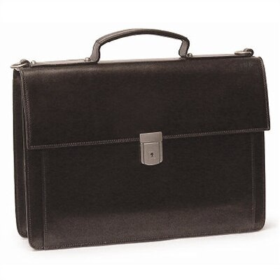 Aston Leather Briefcase with Single Compartment