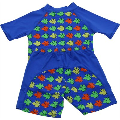 A Little Splash Two Piece Nylon / Spandex Rush Guard in Multi Colored Matisse Print